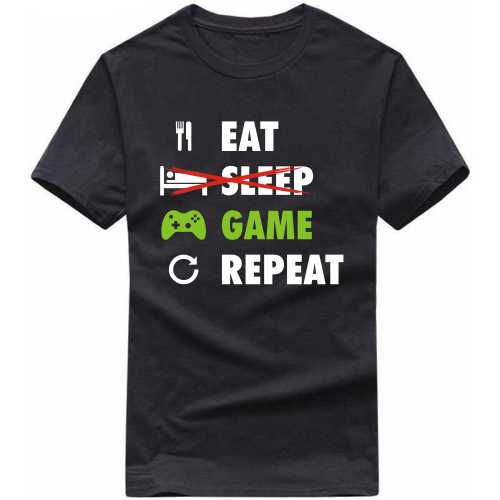 Eat Sleep Game Repeat Gaming T-shirts image