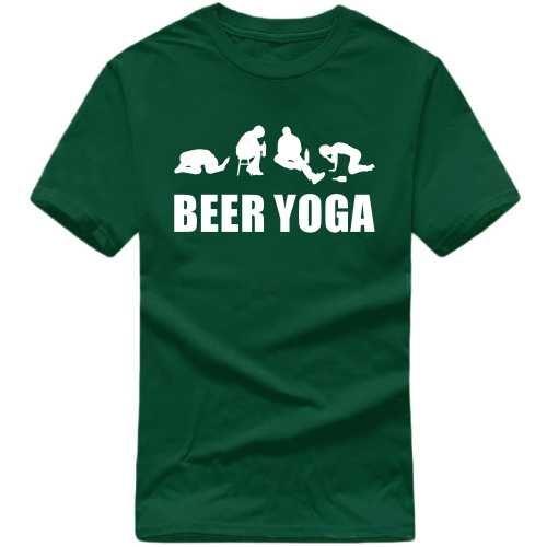 Beer Yoga T Shirt image