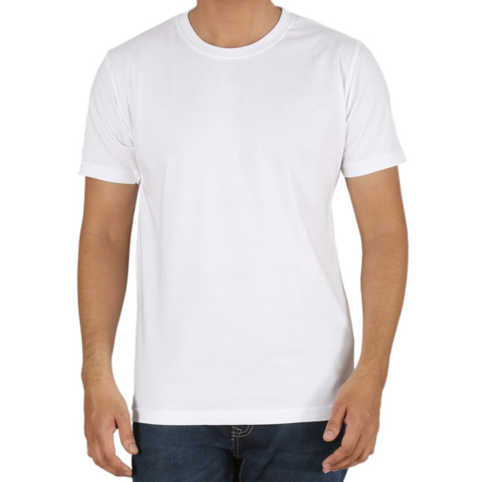 Round neck T-shirt Who can think of a round neck short sleeve t-shirt without imagining James Dean looking so cool in his? White or black or another colour, perhaps translucent or totally see-through, slinky and wet look, lacy like lingerie, whatever your style or mood, DGU has the right men's t shirts and tops.