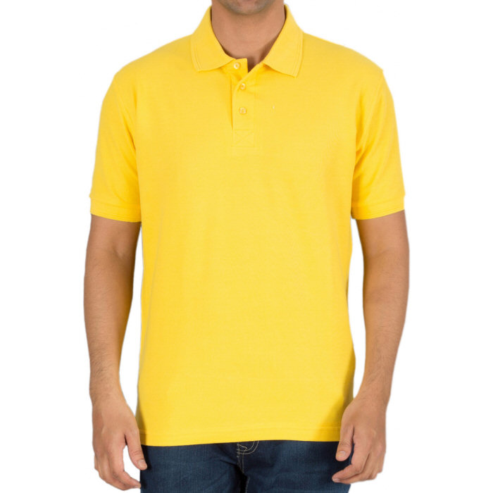 Buy New Yellow Plain Blank Collar Polo T-shirts for Men online ...