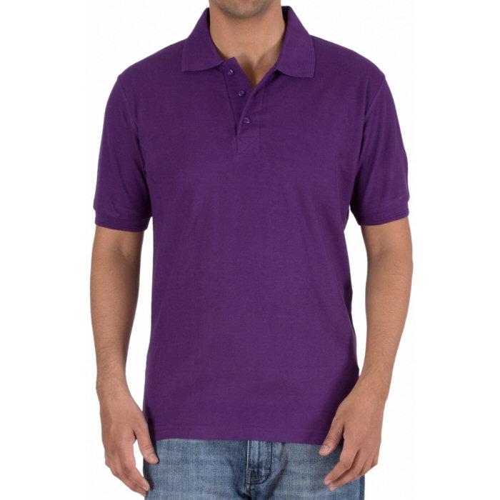 e58cce89a Purple Plain Collar Polo 100% Cotton T-Shirt for Men | Xtees.com ®