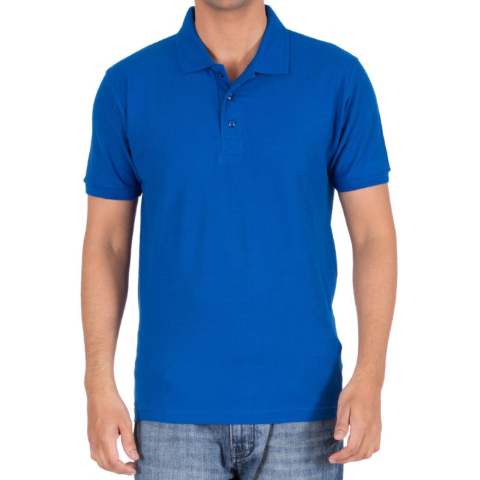 Buy Royal Blue Plain Blank Collar Polo T Shirts For Men
