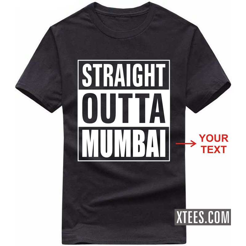 250957f7b Buy Straight Outta Custom Text Printed Round Neck T-shirt for Men ...