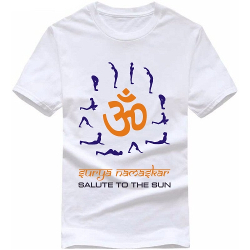 95559a4f998 Surya Namaskar Salute To The Sun Yoga T Shirt