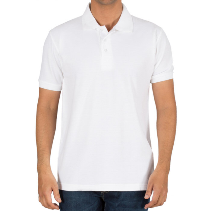 Buy White Plain Blank Collar Polo T-shirts for Men online ...